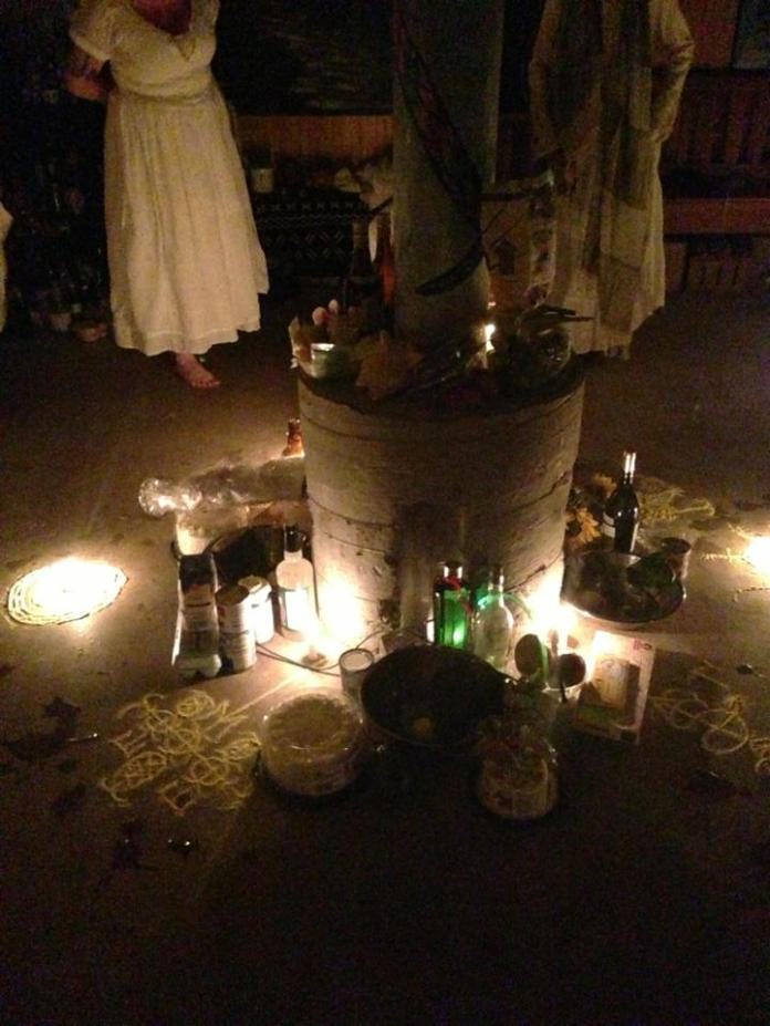 My Vodou initiation. Photo by Julie Valdivia.