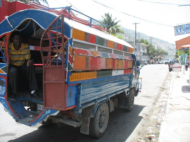 A Haitian tap-tap.