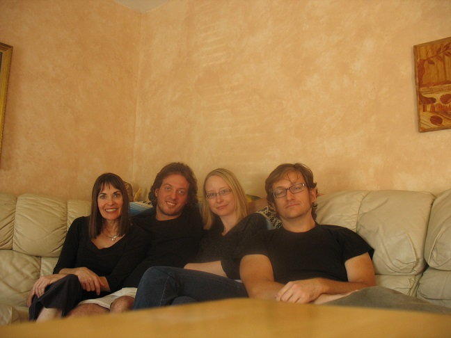 Our weird little Couchsurfing family. Laurie, Bill, Jenn, and yours truly.