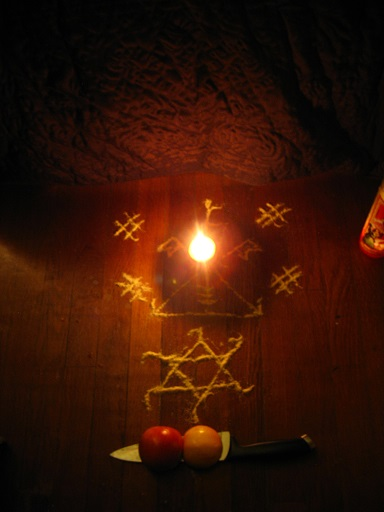From my Vodou ceremony Saturday night.