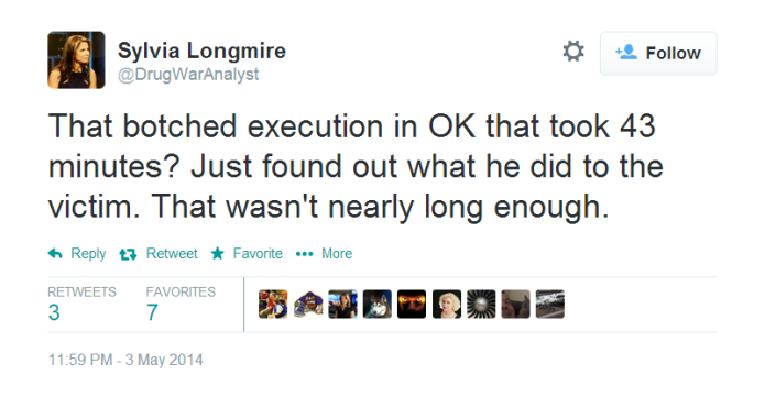 Sylvia Longmire supports torture.