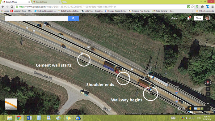 Cycling Hazard Memphis & Arkansas Bridge