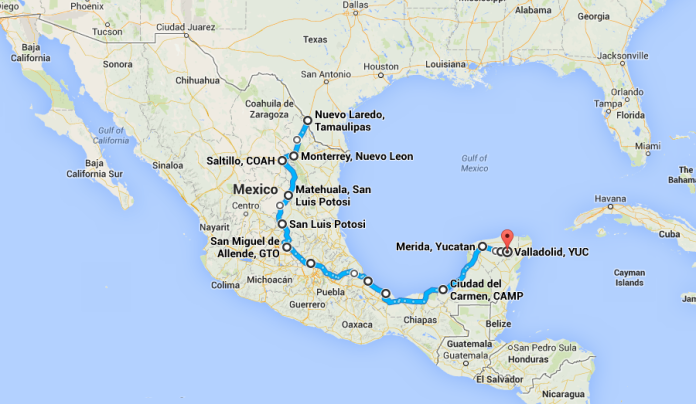 1,300 miles in 80 days.