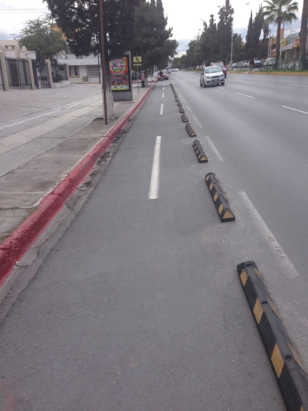 Saltillo boasts the first, and likely last, bike lane I've seen in Mexico. It lasted two blocks.