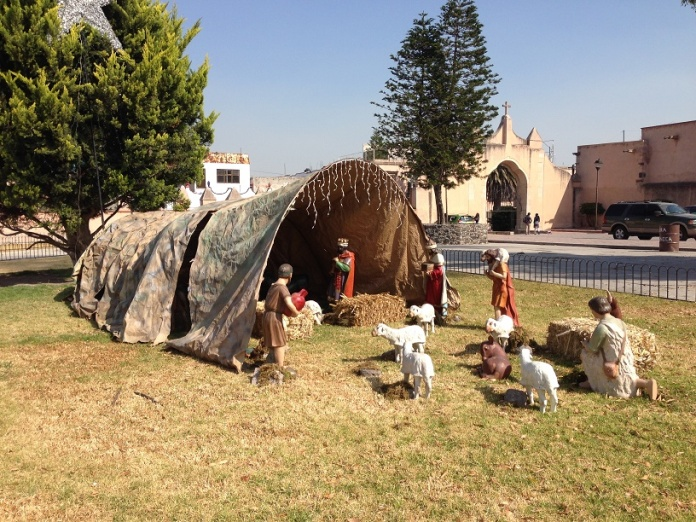 Nativity scene at the Tula parish church. Photo by André.