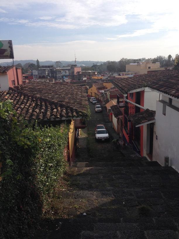 Just a regular street in Xalapa.