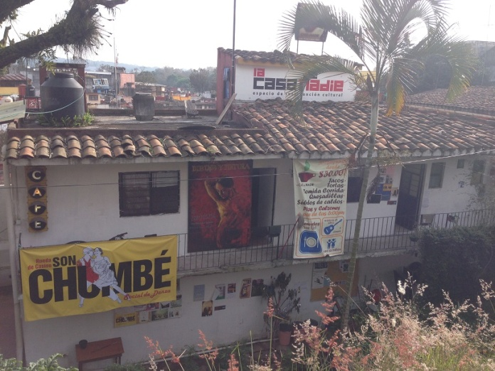 """This is the cafe, """"Casa Nadie."""" The name is a reference to a famous Mexican novel."""