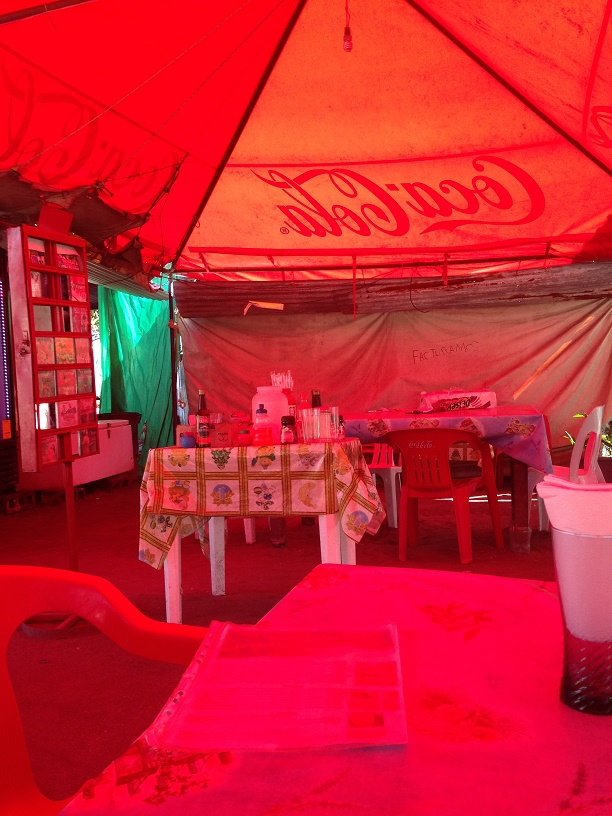 The seafood tent in Isla Aguada. Photo by Andre.