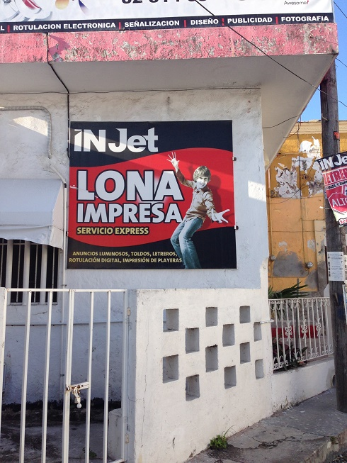 This is a real ad in Champotón. Photo by Andre.