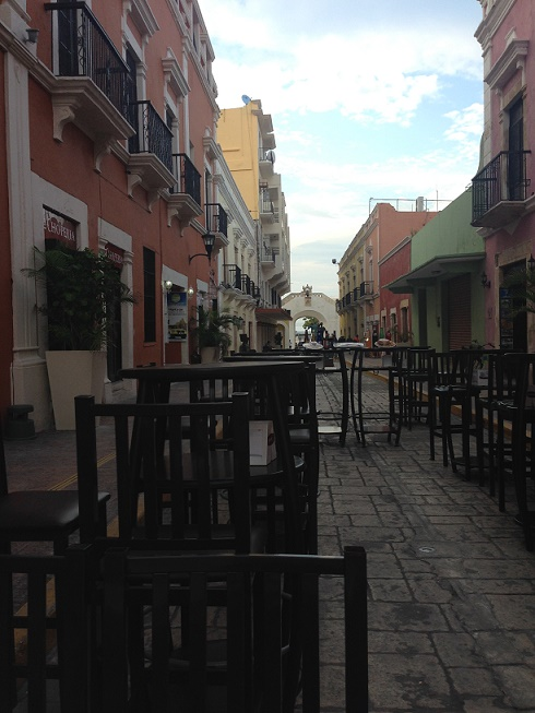 Walking mall in Campeche. Photo by Andre.