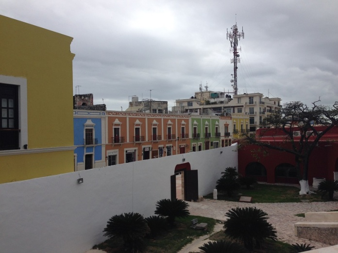 View of Campeche from atop the wall. Photo by Andre.
